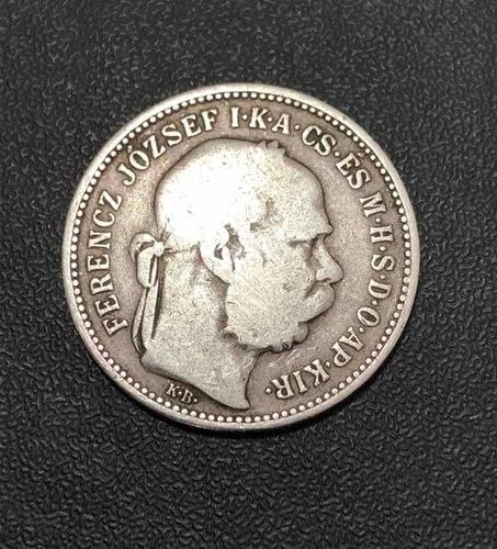moeda antiga 1 korona 1893 hungria - prata