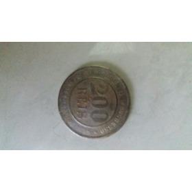 Moeda Antiga 200 Reis - 1893 - Cupro Níquel