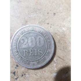 Moeda Antiga 200 Reis 1889  Número 1817