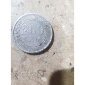 Moeda Antiga 200 Reis De 1876 Império Do Brasil