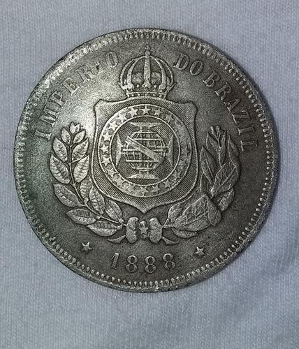 moeda antiga 200 réis imperio do brasil / ano 1888