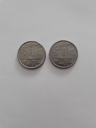 moeda antiga 50 centavos 1989 1990