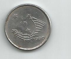 moeda antiga de 1 cruzeiro de 1990