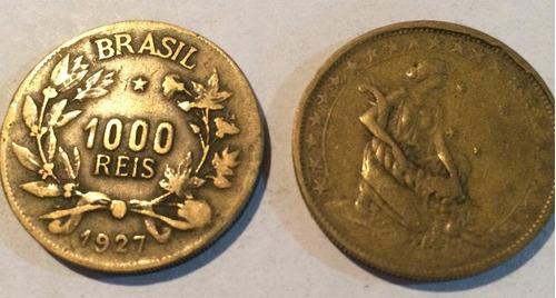 moeda antiga de 1000 reis 1927