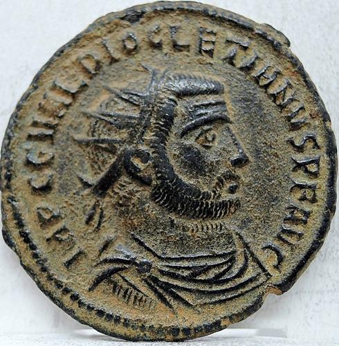 moeda antiga do império romano de diocletianus