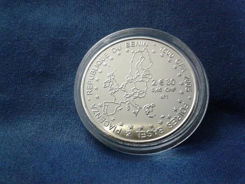 moeda benin - 1500 cfa 2005 foires basel & piacenza - f c
