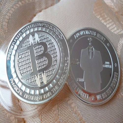 moeda bitcoin ouro, cobre ou prata metal banhadas