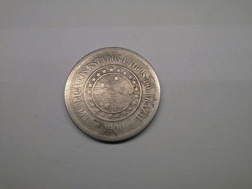 moeda  brasil  100  reis  1900  república  cop.nic