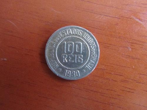 moeda - brasil - 100 réis - 1930 - mbc+