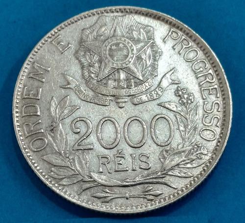 moeda brasil 2 mil reis prata  816br