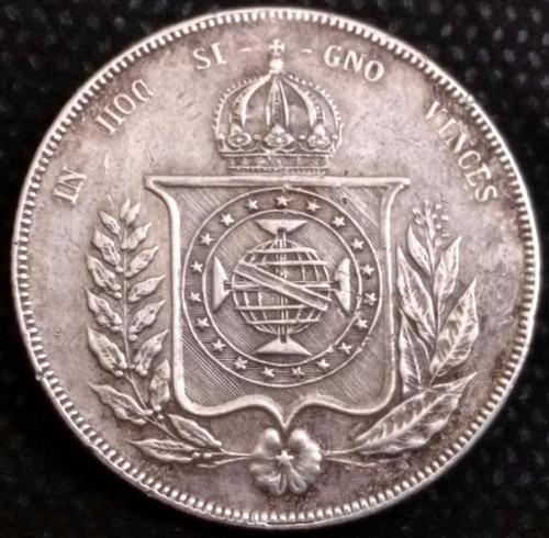 moeda brasil prata império 1856