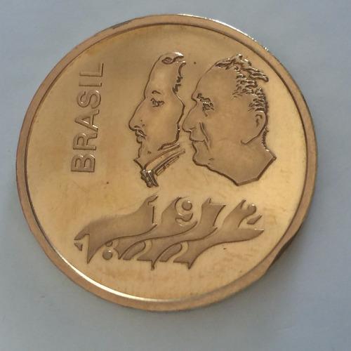 moeda brasileira 300 cruzeiros em ouro 23k 16.4g