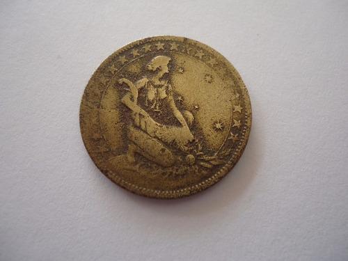 moeda bronze aluminio 1000 mil réis 1927 comemorativa