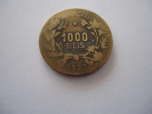 moeda bronze aluminio 1000 mil réis 1927 efigie república