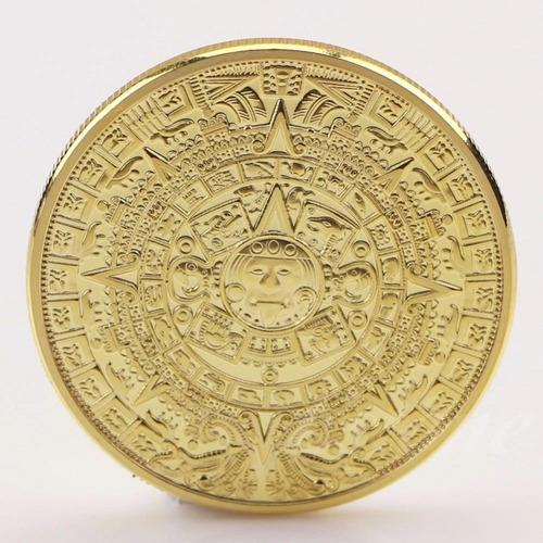 moeda calendário maia comemorativa coleção ouro