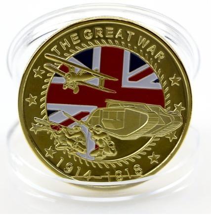 moeda colecionador primeira guerra comemorativa 100 anos