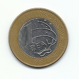 moeda comemorativa 1 real - 40 anos banco central 2005