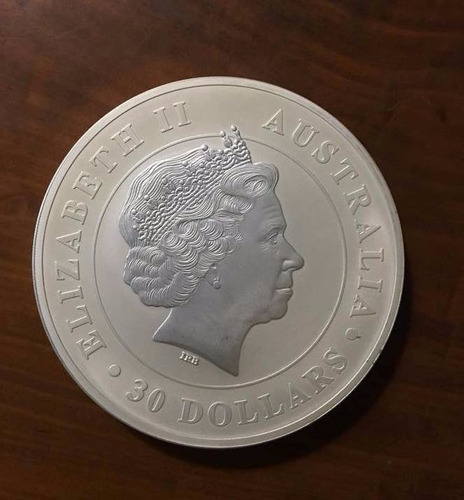 moeda comemorativa australia 30us$ coala - 1kg de prata pura