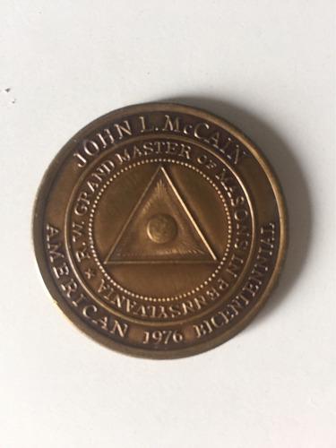 moeda comemorativa de 1976 do bicentenário da grande loja