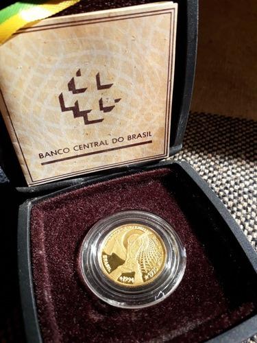 moeda comemorativa de ouro do tetracampeonato