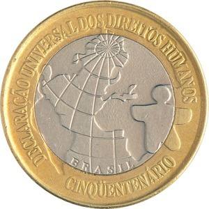 moeda comemorativa dos direitos humanos de 1998