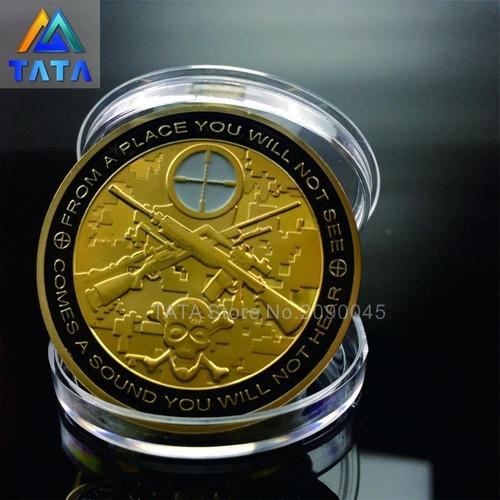 moeda comemorativa militar sniper unido nós estamos