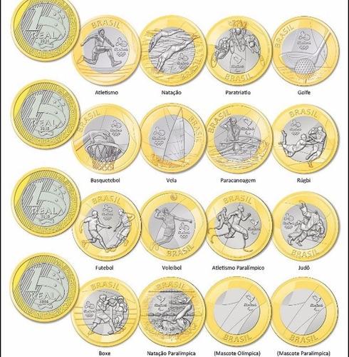 moeda comemorativa olimpíadas modalidades tenho bandeira
