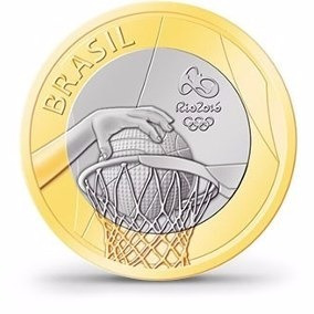 moeda da olimpíadas basquete