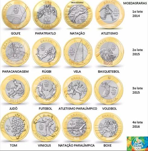 moeda das olimpíadas avulsa 1 real coleção rio 2016 rara