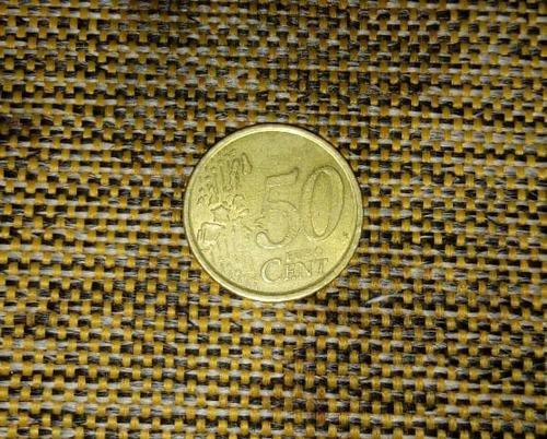 moeda de 0,50 de euro da espanha