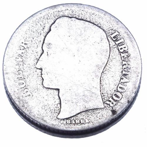moeda de 1 bolivar 1935 da venezuela em prata 835 m1712