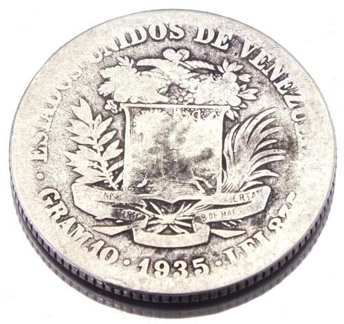 moeda de 1 bolivar 1935 venezuela em prata 835 27,2mm m1327