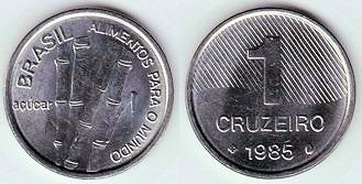 moeda de 1 cruzeiro 1985 fao