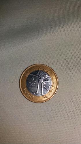 moeda de 1 real das olimpíadas  500,00 reais