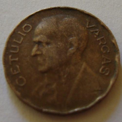 moeda de 100 reis 1942 usada