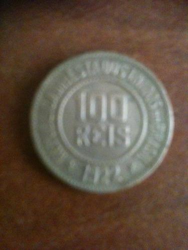 moeda de 100 reis de cupro niquel da republica