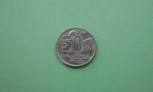 moeda de 50 cruzeiros de 1991 (baiana com tabuleiro)