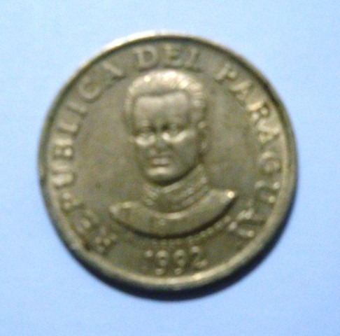 moeda de 50 guaranies - paraguay - 1992