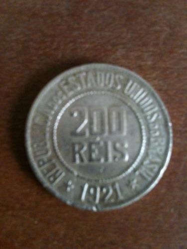 moeda de cupro niquel de 200 reis , republica de 1921