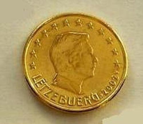moeda de ouro 5 centimos euro luxemburgo 24 k