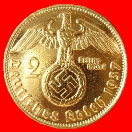 moeda de ouro alema de 2 dm  3 reich ouro 24k!
