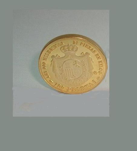 moeda de ouro amadeo i de espanha 24k