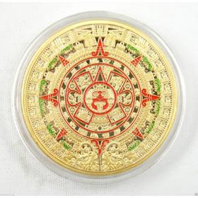 Moeda De Ouro Calendário Asteca 24 K