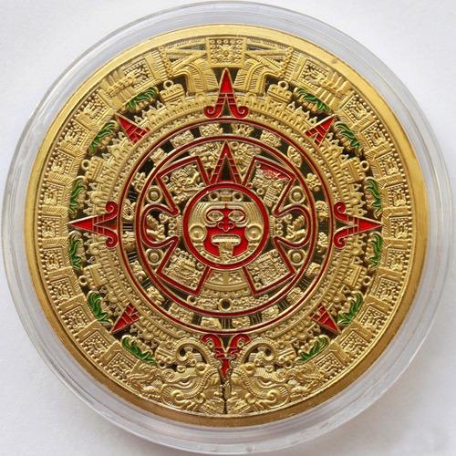 moeda de ouro calendario azteca 24 k
