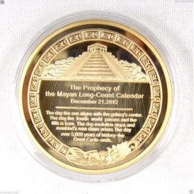 Moeda De Ouro Calendario Maya 24 K