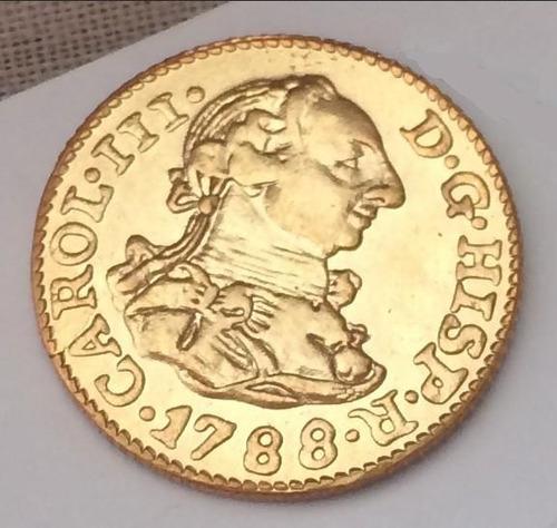 moeda de ouro carlos iii de espanha 24k