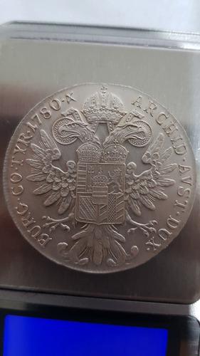moeda de prata da áustria de 1780 x maria theresa