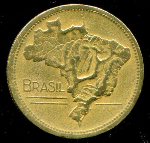 moeda do brasil - 2 cruzeiros bronze - 1946 - soberbo- l.574