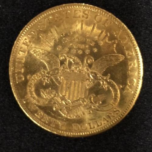 moeda em ouro americana