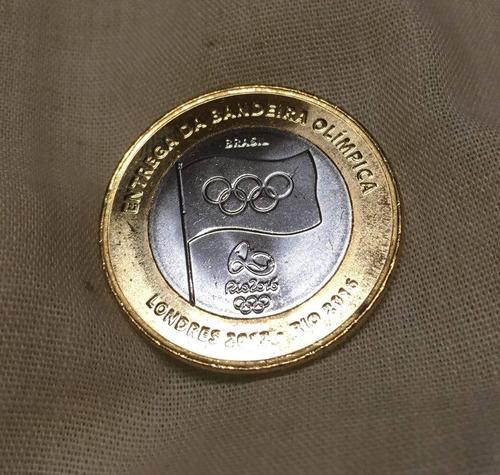 moeda entrega bandeira flor de cunho olimpiadas 2012 rara